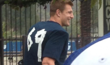 Rob Gronkowski Gave Himself a New Number at Practice Yesterday (Pic)