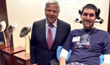 Robert Kraft and the New England Patriots Gave ALS Activist Pete Frates One Hell of a 30th Birthday Party (Pics + Video)