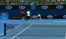 Australian Open Ballboy Gets Racked in the Junk by 121 MPH Serve (Video)