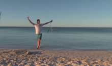 Beach Golfer Lands Sweet Underwater Hole in One (Video)