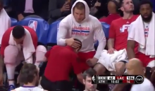 Blake Griffin and a Trainer Show Special Relationship in Nets Blowout (Video)