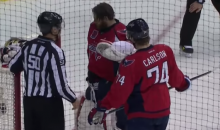 Braden Holtby Eventually Found That Puck Lost in His Equipment (Video)