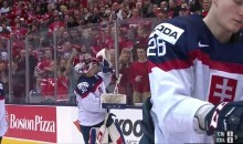 Canadian Fans Cheer For Slovakian Goalie at World Juniors (Video)