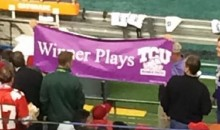 """Winner Plays TCU"": This College Football Championship Sign Is The Greatest (Pic)"