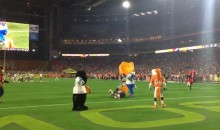 Colts Mascot Beats Patriots Mascot With Inflatable Chair at Pro Bowl (Video)