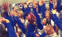 Dallas Cowboys Cheerleaders Celebrate in the Locker Room After Win (Video)