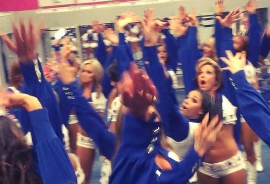 Cowboys Locker Room After Lions Win