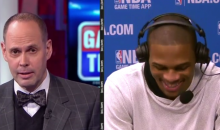 Ernie Johnson Jokingly Asks Russell Westbrook about His 'Execution' (Video)