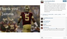 FSU Student With Cerebral Palsy Says Goodbye and Thanks to Jameis Winston (Pic)