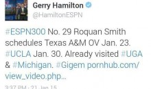 ESPN's Gerry Hamilton Accidentally Pastes Porn Link In Tweet (Pic)
