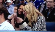 Hot Women Caught On Live TV Sharing Sext Msg During Hockey Game. There Reaction Is Priceless (Video)