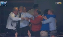 Jerry Jones Box Celebrates Following Dallas Cowboys Wild Card Win (GIF)