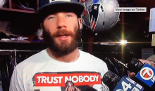 Julian Edelman Wore a Pretty Douchey Tupac Shirt During Postgame Interview (Video)