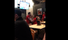 Ohio State Fan Annoys Everyone at a Buffalo Wild Wings (Video)