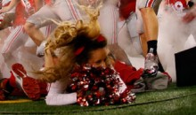 Ohio State Cheerleader Trampled As Players Run Onto the Field (Pics)