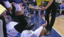 Collision with Courtside Beer Guy Results in Randy Foye Beer Shower (Video)
