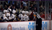Ref Winks at Blackhawks Bench, Pisses Off Predators Coach Peter Laviolette (Video)