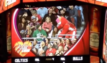 Benny the Bull Steals Celtics Fan's Girlfriend on Kiss Cam (Video)