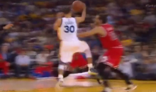 This Stephen Curry Fake Layup Assist Is One for the Highlight Reel (Video)
