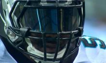 Thomas Davis' Visor Has the Carolina Panthers Logo On It (Pic)