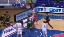 Turkish Fan Gets Clotheslined by Player After Running Onto Court (Video)