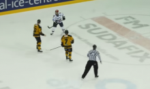 U.K. Hockey Player Uses His Helmet as a Weapon (Video)