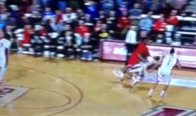 UMass Player Trey Davis Gets His Bell Rung on a Brutal Screen (Video)