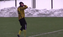 Ukranian Soccer Player Takes a Phone Call During a Game (Video)