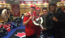 There Was Some Accidental Nudity at Canada's World Junior Championship Celebration, Courtesy of Alex Bilodeau (Pics)