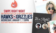 "The Atlanta Hawks Hosted a Tinder-Themed ""Swipe Right Night"" on Wednesday (Pics)"