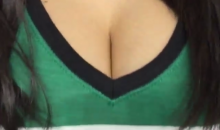 Maxim Model and Dallas Stars Fan Jenna Jenovich Tried to Distract the Senators with Her Ample Bosom