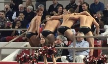 Epic Davidson Free Throw Distraction: Four Guys in Speedos, Dancing (Pics)
