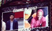 Floyd Mayweather and Manny Pacquiao Had a Courtside Chat at the Miami Heat Game Last Night (Video)