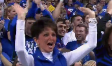"Kentucky Lady Raises the Roof, Goes ""Whoo,"" Single-Handedly Preventing Major Upset (GIF)"