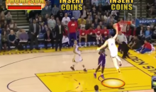 Klay Thompson's 37-Point Third Quarter Gets the NBA Jam Treatment (Video)