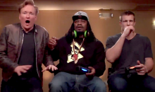 Marshawn Lynch and Rob Gronkowski Playing Mortal Kombat X with Conan O'Brien Will Make Your Day (Video)