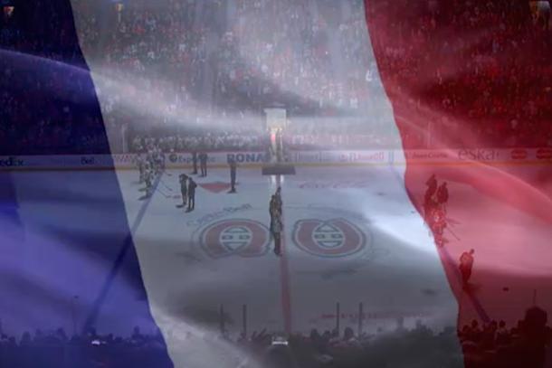 Canadiens Honor Victims Of Paris Terror Attacks With