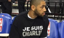 French-Born Nicolas Batum Wears Je Suis Charlie Shirt in Solidarity with Charlie Hebdo Victims (Pic)