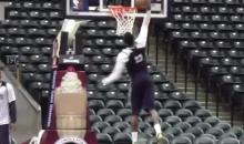 Paul George Dunks for First Time Since His Leg Broke in Half (Video)