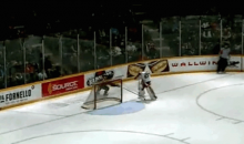 Rangers Goalie Prospect Scores Embarrassing Hockey Own-Goal (GIF)