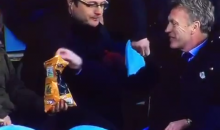 After Getting Ejected, Real Sociedad Coach David Moyes Took a Seat in the Stands and Ate Some Fans' Chips (Videos)
