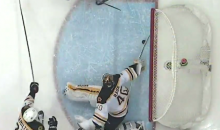 Amazing Tuukka Rask Paddle Save Denies Michael Grabner the Easy Goal (Video)