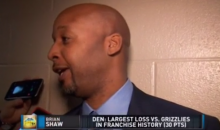 Nuggets Coach Brian Shaw Pulls a Marshawn Lynch After 30-Point Loss to Grizzlies (Video)