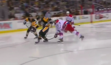 Alex Ovechkin Gets Beer Tossed on Him After Slashing Kris Letang (Video)