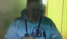 Bill Belichick Eats with His Fingers at the Combine (Video)