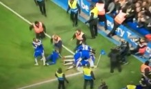 Chelsea Pitch Invader Comes Up Just Short of Reaching Goal Celebration (Video)