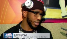 Chris Paul Rips Female Ref After Clippers Loss to Cavs (Video)