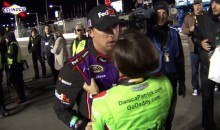 Danica Patrick Yells at a Very Calm Denny Hamlin (Video)