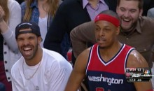 Drake Screws Around With Paul Pierce During Raps-Wizards (Video)