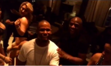 Floyd Mayweather Video Shows Him on V-Day with Many, Many Strippers